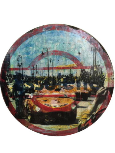 Havana Grand Prix 2018 Mixed Media on enamel Sign 29,5 in (diameter)