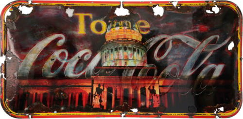 Coca Cola Capitol 2015, mixed media on metal