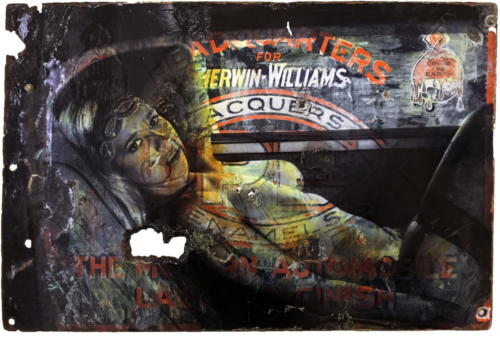 Sherwin Williams  Mixed Media on enamel Sign 16 x 24 in