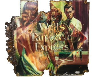 Wells Fargo Vanity Fair 2017 Mixed Media on enamel Sign 21 x 21 in (1)