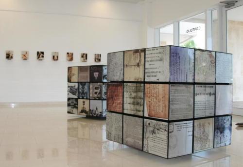 rubik constitucion,2012,mixta aluminio ,madera, 98 x 98 x 98 cm
