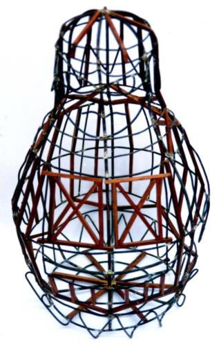 estructura ausente,1994,mixta madera acero,60 x 40 x 40 cm