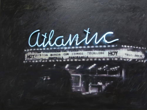 Atlantic 2015 Mixed media and neon 100 x 130 cm