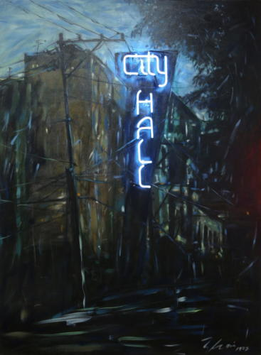 City Hall 2015 Mixed media and neon 145 x 11 cm