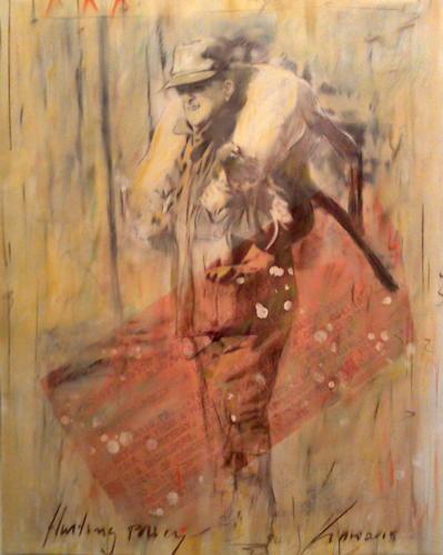 Hunting Party,2015, mixta lienzo , 110 x 80 cm