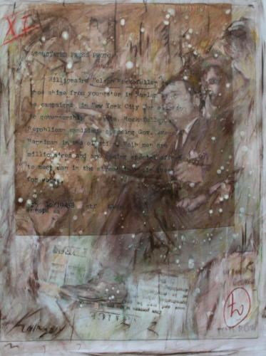 Nelson Rockefeller,2014,mixta sobre lienzo ,120 x 100 cm
