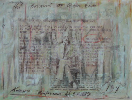 cuban exile , 2014, mixta lienzo , 100 x 130 cm